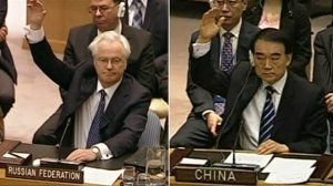 Representatives of China and Russia veto the resolution condemning the Syrian government. Source: Google Images.